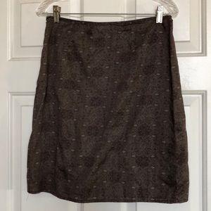 Gap Brown Light Cotton Skirt